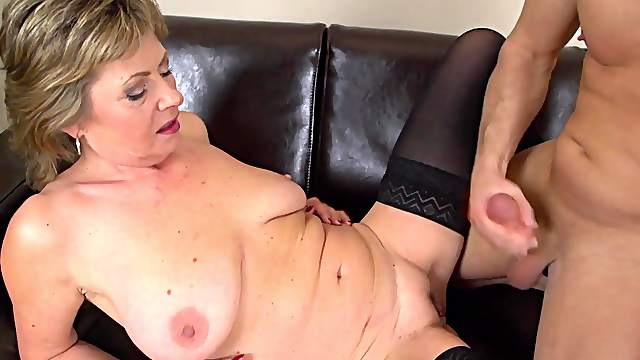 Mature with big tits, natural cam porn with the nephew